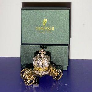 Matashi Hand Painted Trinket Box Crown Carriage